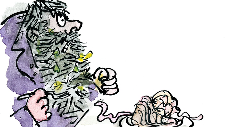 Mr Twit from Roald Dahl's The Twits, illustrated by Quentin Blake