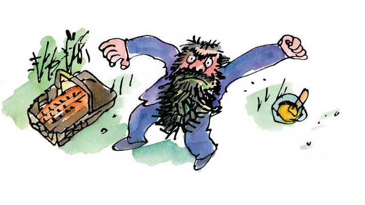 Mr Twit, from Roald Dahl's The Twits, illustrated by Sir Quentin Blake