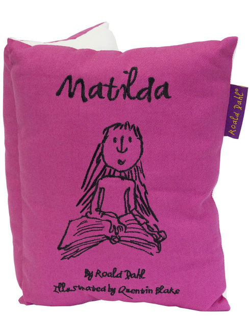 Cushion featuring Roald Dahl's Matilda, illustrated by Quentin Blake