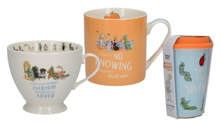 James and the Giant Peach mugs