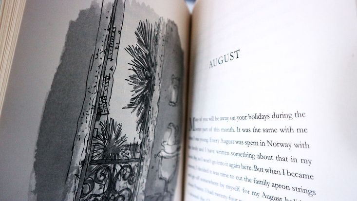 August chapter of Roald Dahl's My Year