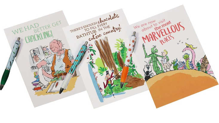 Selection of Roald Dahl stationary