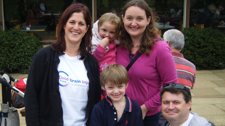 Family with Child Brain Injury Trust staff