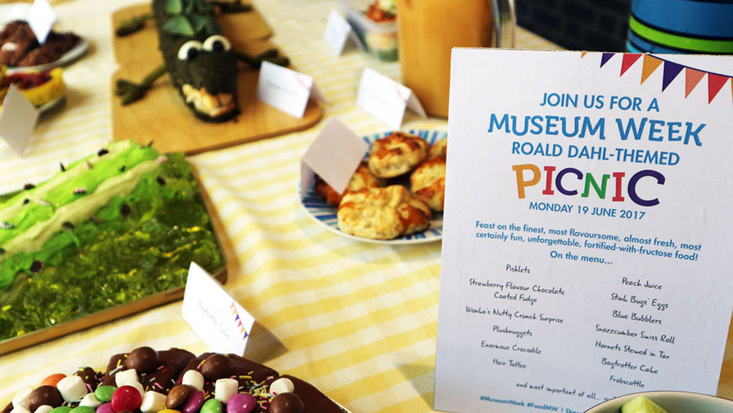 Museum Week picnic at the Roald Dahl Museum