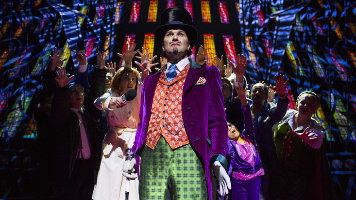 Douglas Hodge as Willy Wonka from the West End musical production of Charlie and The Chocolate Factory