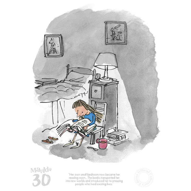 Limited edition print from Roald Dahl's Matilda
