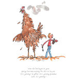 A fun print from Roald Dahl's George's Marvellous Medicine, illustrated by Quentin Blake