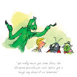 Limited edition print featuring characters from Roald Dahl's James and the Giant Peach illustrated by Quentin Blake