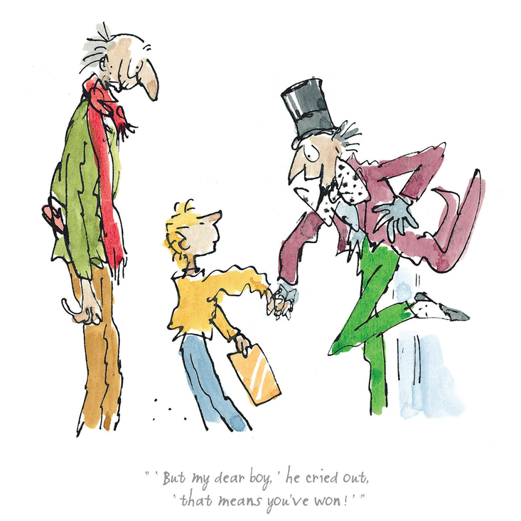 A limited edition Charlie and the Chocolate Factory print, featuring Roald Dahl's much-loved characters illustrated by Quentin Blake