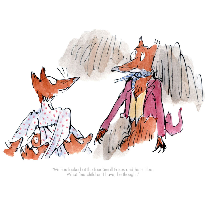 Limited edition Fantastic Mr Fox Roald Dahl Quentin Blake print