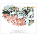 Roald Dahl's The Twits print - Quentin Blake illustration