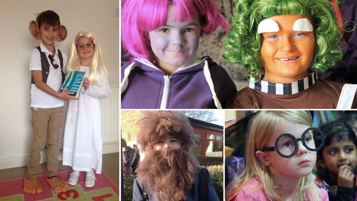 Children dressed up as Roald Dahl characters