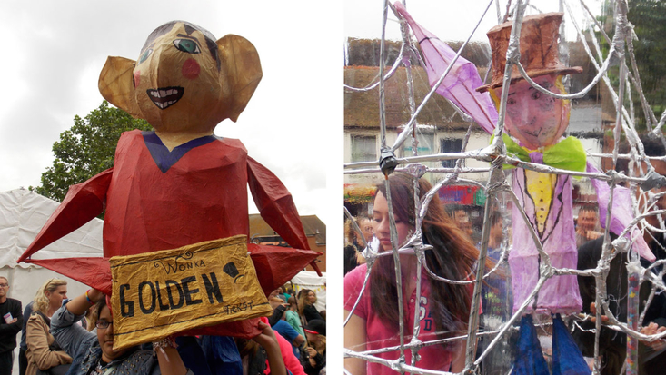 Puppets at the Roald Dahl Festival parade