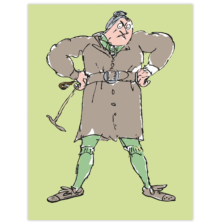 Miss Trunchbull canvas print - a character from Roald Dahl's Matilda