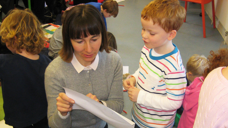 Author Rebecca Patterson during a workshop