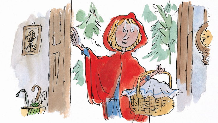 Little Red Riding Hood from Roald Dahl's Revolting Rhymes, illustrated by Sir Quentin Blake