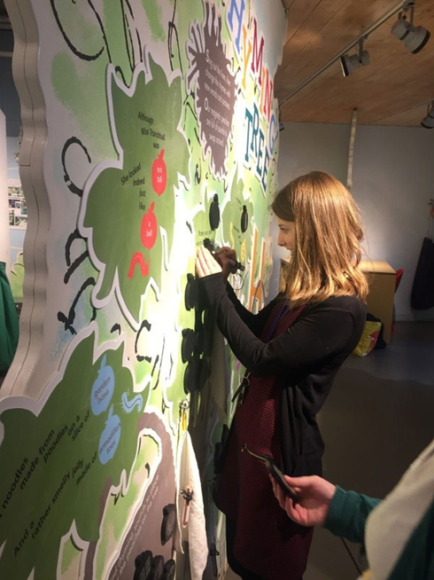 First go at the Rhyming Tree at the Roald Dahl Museum