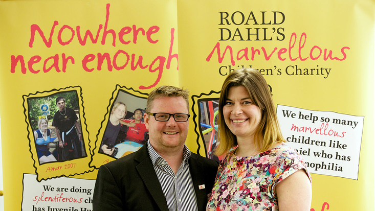 Richard Piper and Dr Kate Oulton at the Family Resilience Programme Launch