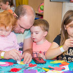 Family craft time at the Roald Dahl Museum