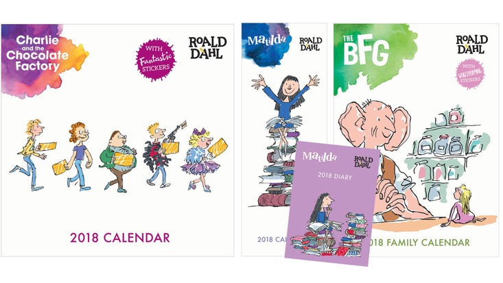 Roald Dahl 2018 diaries and calendars