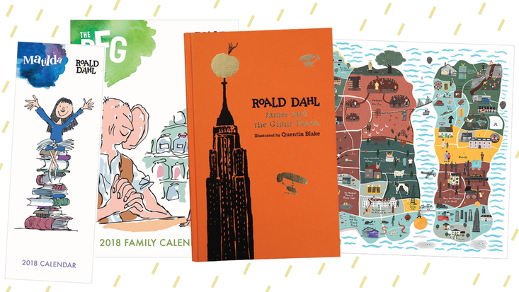 Roald Dahl gifts including a Museum edition of James and the Giant Peach