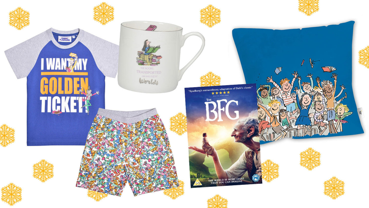 A selection of Roald Dahl Christmas gifts