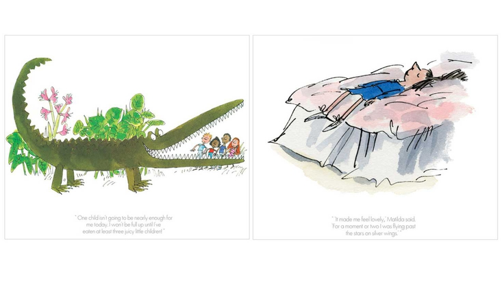 Roald Dahl limited edition prints