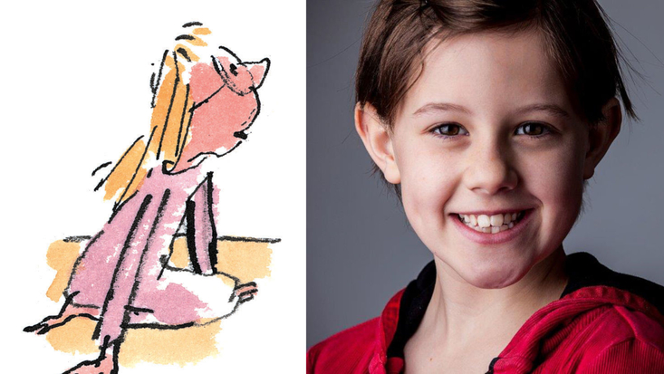 Ruby Barnhill to play Sophie, here illustrated by Sir Quentin Blake, in Steven Spielberg's forthcoming film adaptation