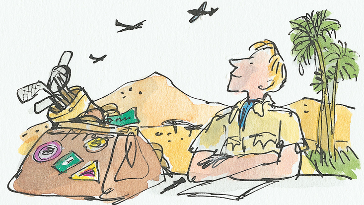 Roald Dahl's Going Solo, illustrated by Quentin Blake