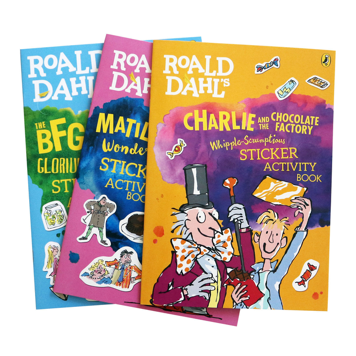Set of Roald Dahl sticker books