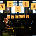 Tim Minchin plays at the Sydney press launch of Matilda The Musical. Photo: James Morgan