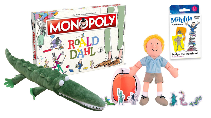 Selection of Roald Dahl toys and games