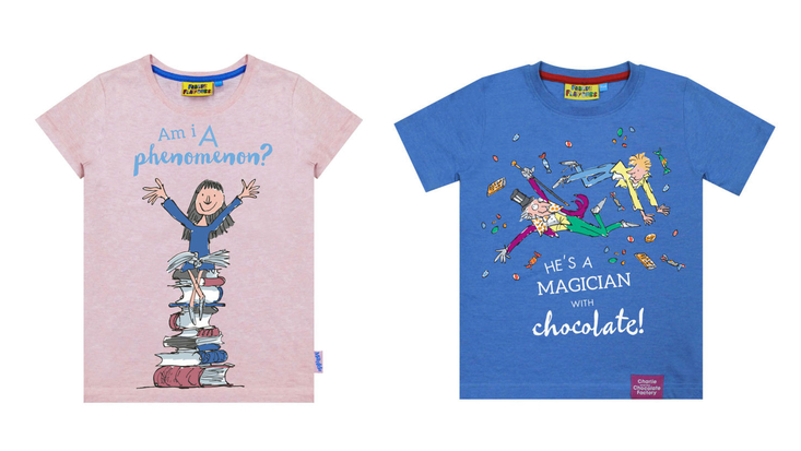 New Roald Dahl t-shirt designs