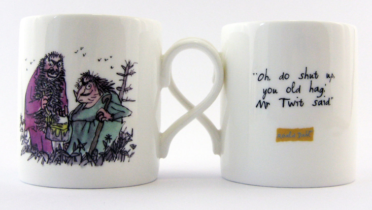 Mug featuring Roald Dahl's the Twits, illustrated by Sir Quentin Blake