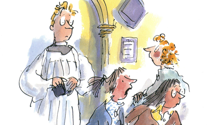 Roald Dahl's The Vicar of Nibbleswicke, illustrated by Quentin Blake