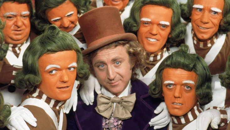 Willy Wonka and Oompa-Loompas