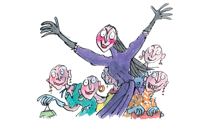 The Grand High Witch - copyright Quentin Blake