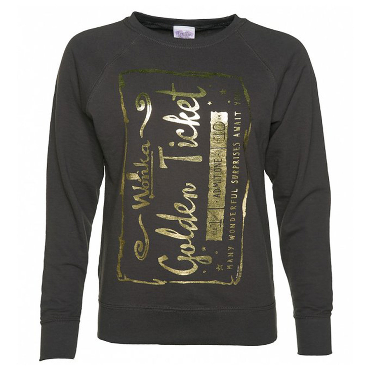 Roald Dahl ladies Golden Ticket sweatshirt