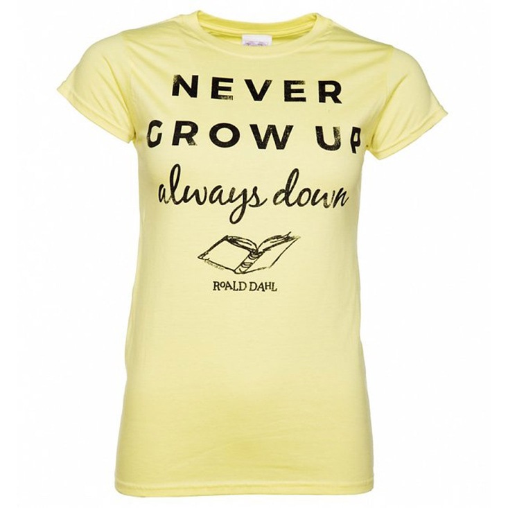 Roald Dahl Never Grow Up Ladies Tshirt