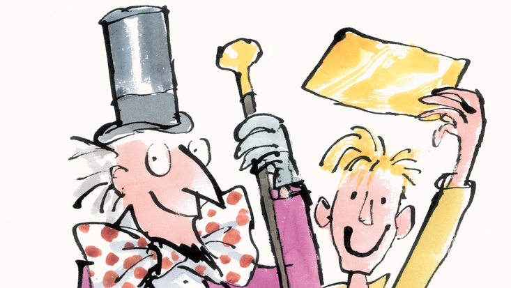 Willy Wonka and Charlie Bucket, illustrated by Quentin Blake