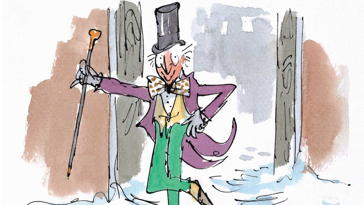 Willy Wonka, illustrated by Quentin Blake, from Roald Dahl's Charlie and the Chocolate Factory