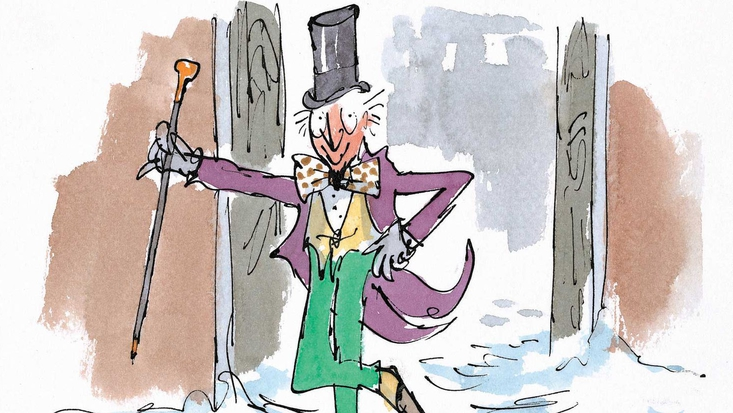 Willy Wonka, illustrated by Quentin Blake