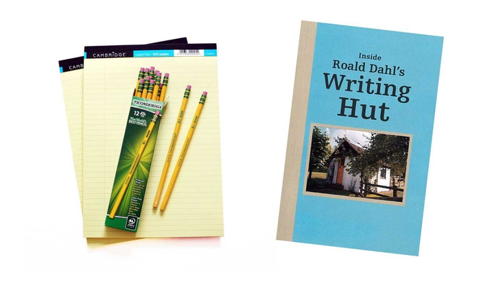 Writing Hut book and pen and paper set